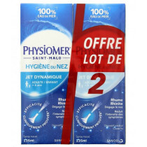 Physiomer Nasal Sea Water Spray for Children and Adults , Dynamic Spray, As  From 6 years old, 2 X 135 ml
