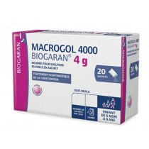 Macrogol 4000 Biogaran, 4g, Box of 20 sachets