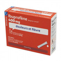 Ibuprofen 400 mg Biogaran Conseil - 10 Sachets Strawberry Flavor