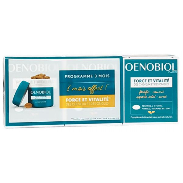Oenobiol strength and vitality of hair and nails 3 x 60 capsules