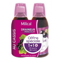Milical Drainer Ultra Taste Blackcurrant - 1 bought 1 Free - 2 X 500ml