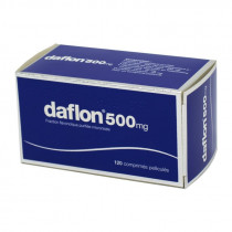 Daflon 500 mg – for poor venous circulation and haemorrhoids – 120 Tablets