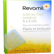 Revamil Honey Tulle 5 X 5 cm - Wounds & Burns - 5 Dressings
