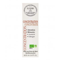 Bach Flower Remedies Concentration - Elixirs & Co - 20mL