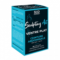 Flat Belly - Abdominal Belt - S.I.D. Nutrition - Sculpting Act - 90 Tablets