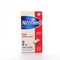 Fruit Chewing Gums - Sugar Free - Nicotine 2mg - Nicotinell - 24 Gums