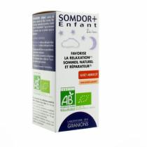 Somdor+ Kids Syrup - Apricot Flavor - No Sugar Added - Granions - 125ml