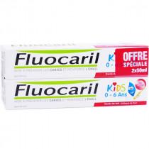 Milk Teeth Toothpaste - Strawberry Gel - 0-6 years - Fluocaril - 2 x 50ml