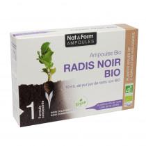 Black Radish - Organic - No Dye - Nat & Form - 20 Ampoules of 10ml