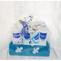 birth gift box Mustela blue