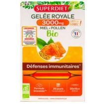Royal Jelly - Superdiet - Organic Honey - Immune Defenses - 20 Phials