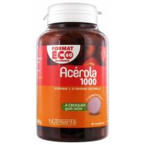Acerola 1000 Nutrisanté, 60 Chewable Tablets - Cherry Taste