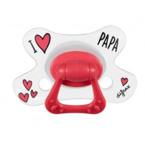 Natural Pacifier - I Love Papa - Difrax - + 6Months