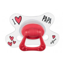 Natural Pacifier - I Love Papa - Difrax - + 12 Months