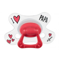 Natural Pacifier - I Love Papa - Difrax - + 20 Months