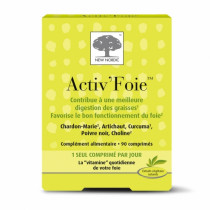 Activ'Foie Digestion of Fats and Liver Support, Box of 90 tablets