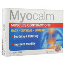Myocalm Muscle Contractions - 3 Chênes Pharma Laboratory - 30 tablets